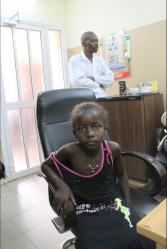 Première rencontre avec Aïssata à l'hôpital de Bamako - 8 Février 2010