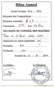 bulletin d'Ibrahim 2013-2014