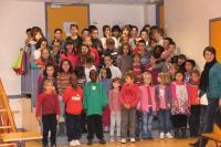 Avec les enfants de l'école de Lanildut